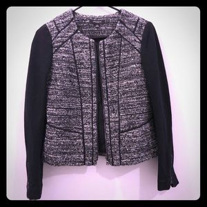 Anne Klein tweed & knit jacket modern 0